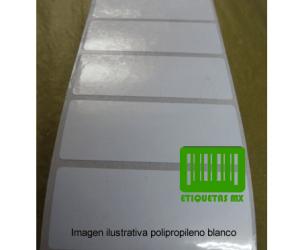 Etiquetas Polipropileno Blanco 30X14C