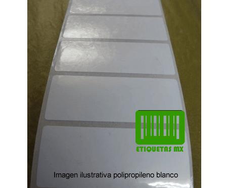 Etiquetas Polipropileno Blanco 19X8C